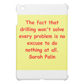 great Sarah Palin quote iPad Mini Cover