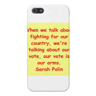 great Sarah Palin quote iPhone 5 Case
