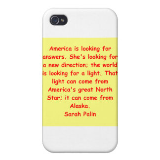 great Sarah Palin quote iPhone 4/4S Covers