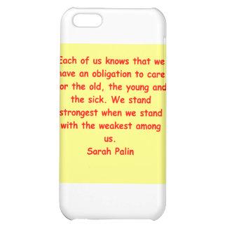 great Sarah Palin quote iPhone 5C Cases
