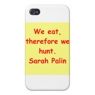 great Sarah Palin quote Cover For iPhone 4