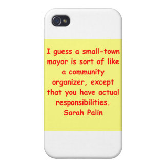 great Sarah Palin quote Case For iPhone 4