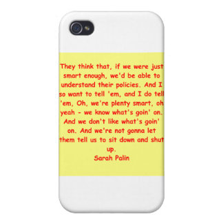 great Sarah Palin quote iPhone 4 Cover