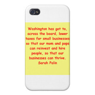 great Sarah Palin quote iPhone 4/4S Cases