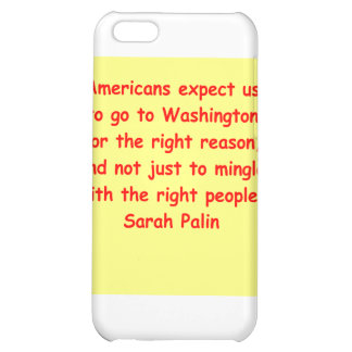 great Sarah Palin quote iPhone 5C Cover