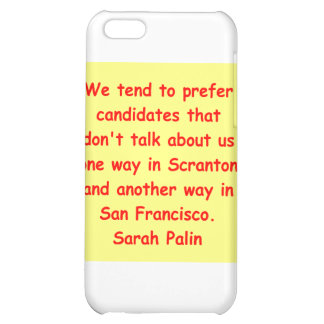 great Sarah Palin quote iPhone 5C Covers