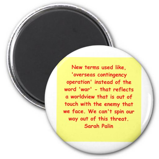 great Sarah Palin quote Refrigerator Magnet