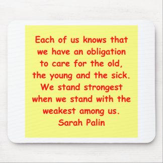 great Sarah Palin quote Mousepad