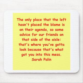 great Sarah Palin quote Mousepads