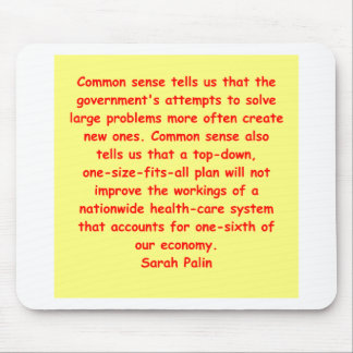 great Sarah Palin quote Mouse Pad