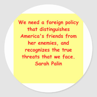 great Sarah Palin quote Stickers