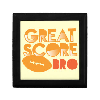 Great Score Bro! with Football Small Square Gift Box