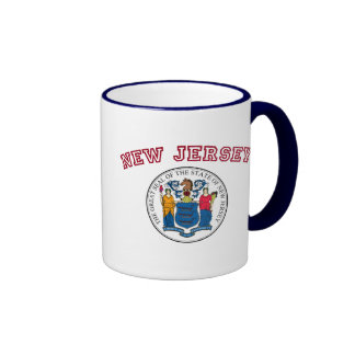 Great Seal of New Jersey Ringer Coffee Mug