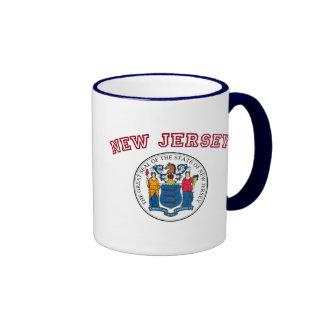 Great Seal of New Jersey Ringer Mug