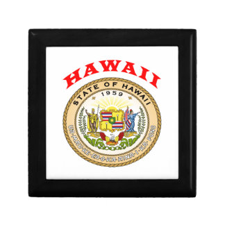 Great Seal Of  State Hawaii Gift Box