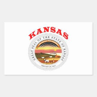 Great Seal Of  State Kansas Rectangular Sticker