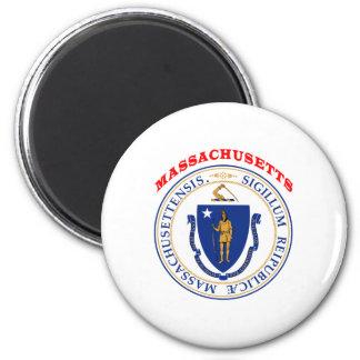 Great Seal Of  State Massachusetts Fridge Magnet