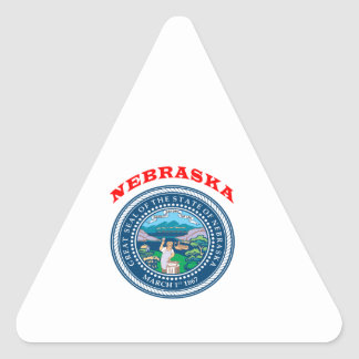 Great Seal Of  State Nebraska Triangle Stickers