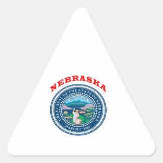 Great Seal Of State Nebraska Triangle Stickers