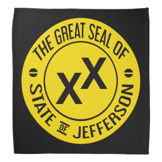 Great Seal of the State of Jefferson Bandanna