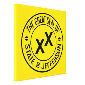 Great Seal of the State of Jefferson Canvas Print