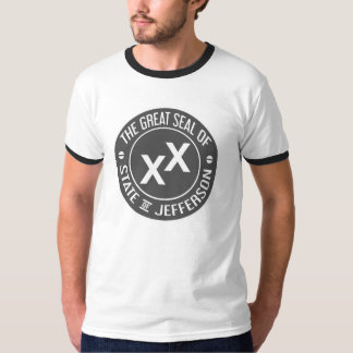 Great Seal of the State of Jefferson - GRAY T-Shirt