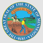 Great seal of the state of Minnesota Round Stickers