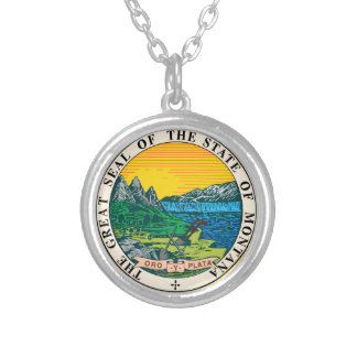 Great Seal of the State of Montana Silver Plated Necklace