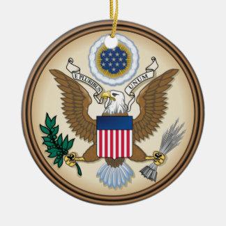 Great Seal of the United States (original) Round Ceramic Decoration