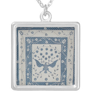 Great Seal of United States Quilt Silver Plated Necklace
