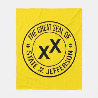 Great Seal State of Jefferson Throw Blanket