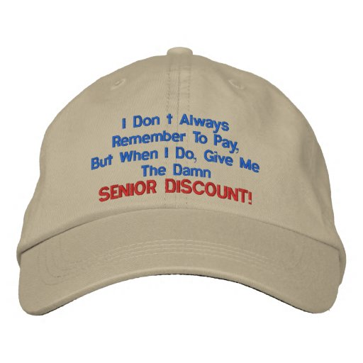 GREAT SENIOR MOMENTS EMBROIDERED HAT