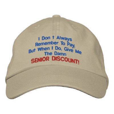 GREAT SENIOR MOMENTS EMBROIDERED HATS