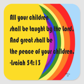 Great Shall Be the Peace Stickers