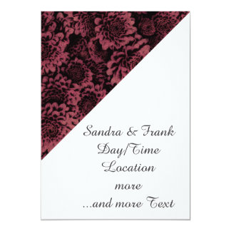 great shimmering flowers pink(I) 13 Cm X 18 Cm Invitation Card