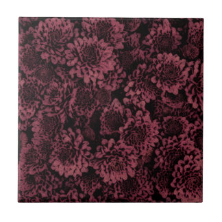 great shimmering flowers pink(I) Small Square Tile