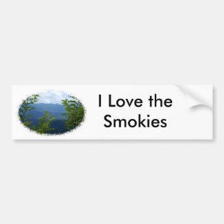 Great Smokey Mountains Car Bumper Sticker