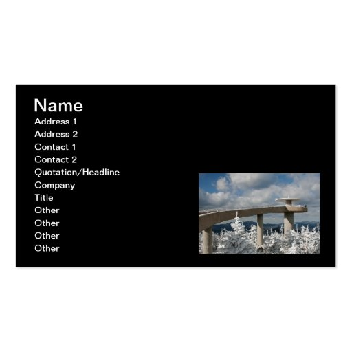 Great Smoky Mountain National Park Business Card Template