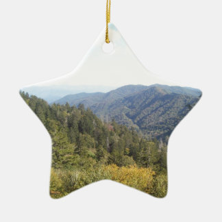 Great Smoky Mountain Vista 1 Ceramic Star Decoration