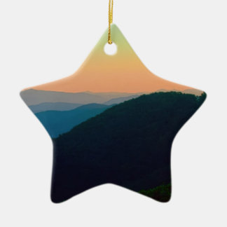 Great Smoky Mountains Ceramic Star Decoration