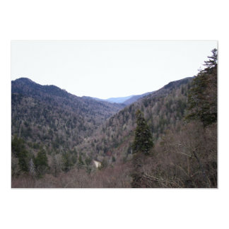 Great Smoky Mountains Cold Day 13 Cm X 18 Cm Invitation Card