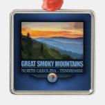 Great Smoky Mountains Silver-Colored Square Decoration