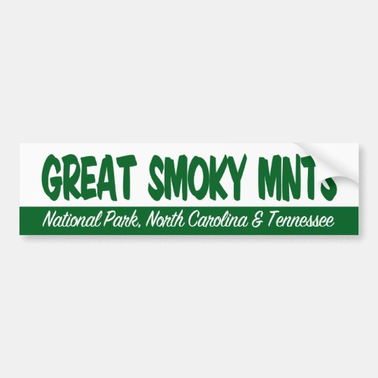 Great Smoky Mountains National Park Bumper Sticker