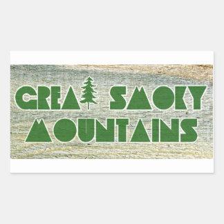 Great Smoky Mountains National Park Rectangular Sticker