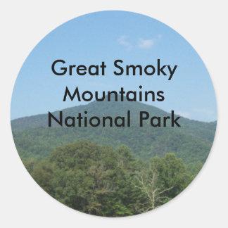 Great Smoky Mountains National Park Round Sticker