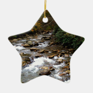 Great Smoky Mountains river Ceramic Star Decoration