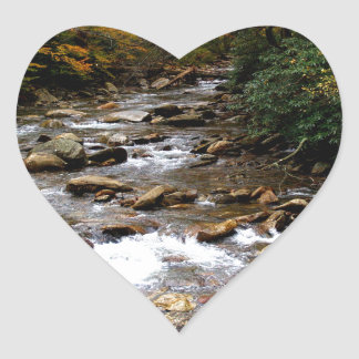 Great Smoky Mountains river Heart Sticker