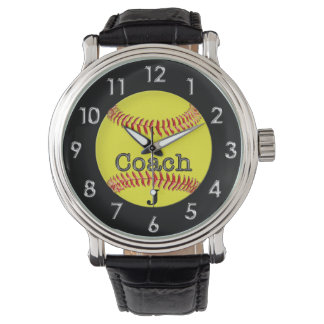 Great Softball Coach Gifts with Coach's MONOGRAM Wrist Watch