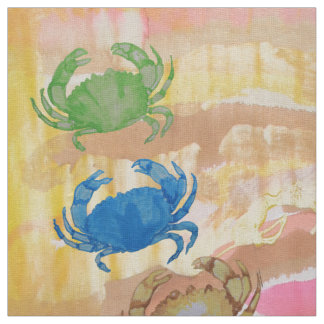 Great Sophisticated Tie-dye Crabs Fabric