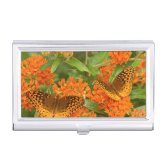 Great Spangled Fritillaries on Butterfly Milkweed Business Card Holder